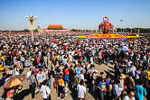 People on Tiananmen during the National Day of the People's Republic of China. Beijng 01.10.12