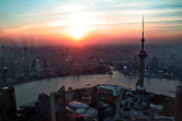 View of Shanghai from the top of Jin Mao tower