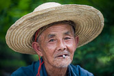 Chinese farmer. China, Yangshuo, May 1, 2008.