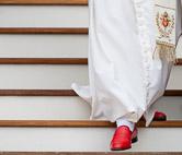 Pope Benedict XVI wears Prada red shoes. Vatican City, June 2, 2010.