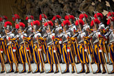 Swiss guard recruit during the swearing-in ceremony of the Vatican's elite Swiss Guard at Paul VI hall on 6th may 2010 in Vatican city.