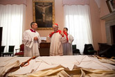 Cardinal Donald W. Wuerl of Washington takes possession of his titular church of San Pietro in Vincoli (St. Peter in Chains) Rome, May 8, 2011.